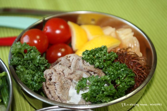 내사랑도 함께 비벼 먹어~~ 나물 비빔밥 도시락.