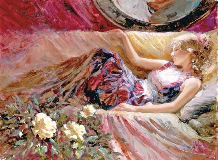 弗拉迪米尔沃列戈夫【俄罗斯油画】 - 空山鸟语 - 月滿江南
