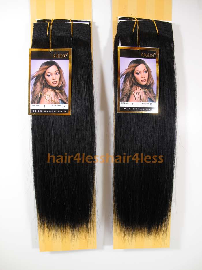 Outre 100 Human Hair Weaving Premium Purple Pack Yaki 14 Human