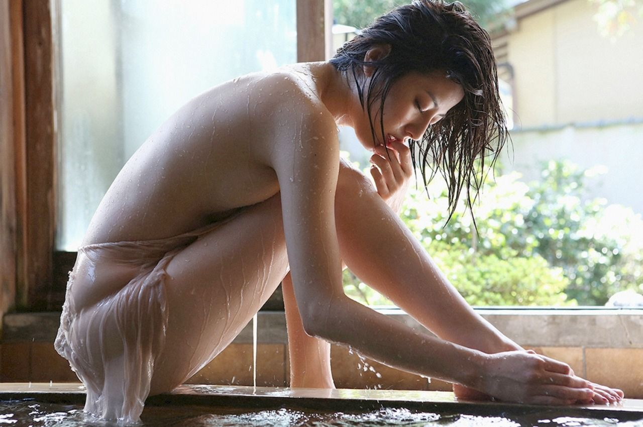 wet Japanese girl
